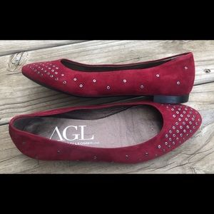 AGL Attilio Giusti Leombruni red wine beaded flat